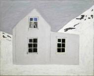 Natt, 1996-97, 65x81cm, olje og kull - tilhører Lillehammer Kunstmuseum